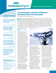 Health Value Digest Newsletter Spring 2014